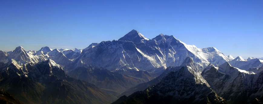 Mount Everest aerial view by Kerem Barut